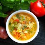 Суп из пекинской капусты с горошком