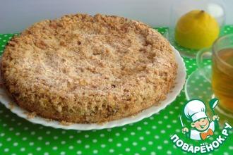 Рецепт: Овсяный пирог с лимонным кремом