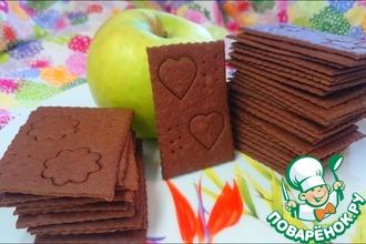 Рецепт: Шоколадное печенье Тонкая штучка