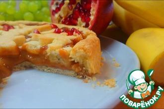 Рецепт: Пирог с бананом и вареной сгущенкой