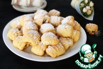 Рецепт: Печенье с финиками и клюквой