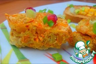 Рецепт: Овощное суфле со свиной вырезкой