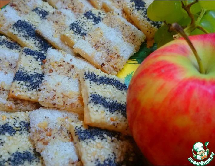 Рецепт: Сладкое печенье-крекер Разнообразие