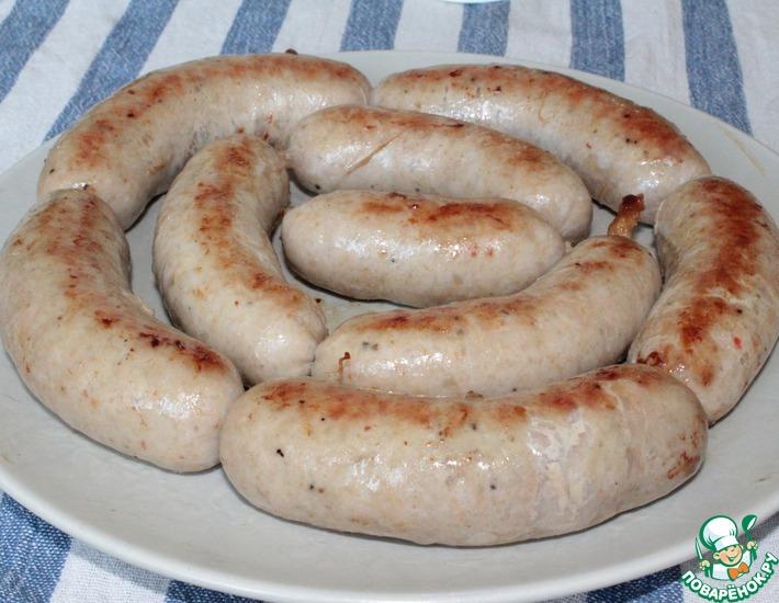 Рецепт: Домашние свиные колбаски