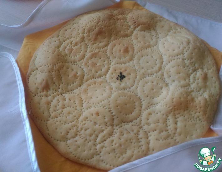 Рецепт: Узбекская тонкая лепешка