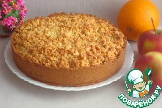 Рецепт: Апельсиново-яблочный пирог