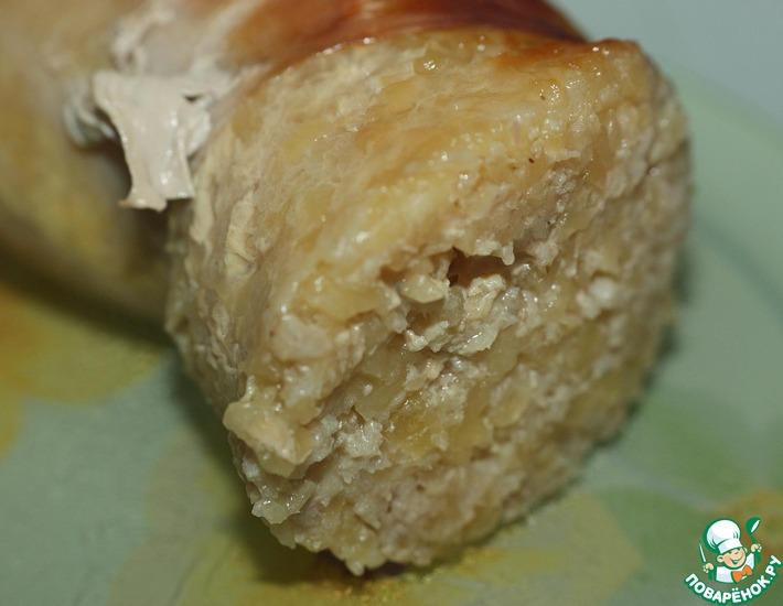 Рецепт: Картофельная колбаса