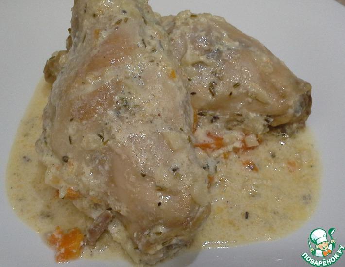 Рецепт: Кролик в сметанном соусе