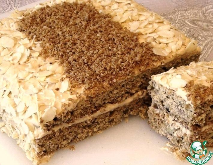 Рецепт: Овсяно-медовый пирог-торт с бананами