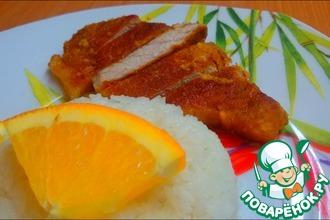 Рецепт: Корейка в апельсиновом маринаде