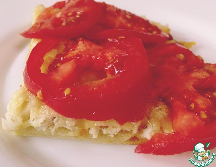 Рецепт: Пицца с курицей и помидорами