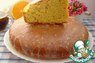 Рецепт: Цитрусовый пирог с кукурузной мукой