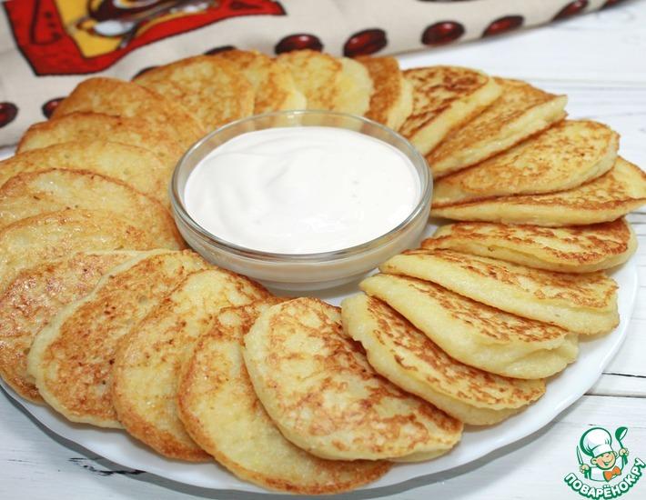 Рецепт: Нежные картофельные оладьи