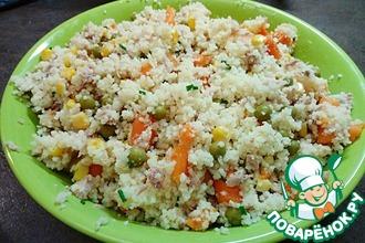 Рецепт: Кус-кус с тунцом и овощами
