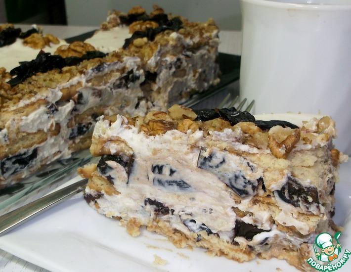 Рецепт: Торт без выпечки на 23 февраля