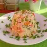 Салат с кус-кусом и ветчиной