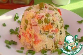 Рецепт: Салат с кус-кусом и ветчиной