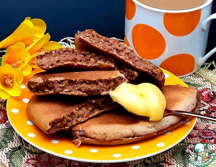 Рецепт: Оладьи с орехами и овсяными хлопьями