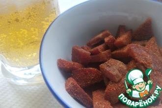 Рецепт: Закуска к пиву колбасная