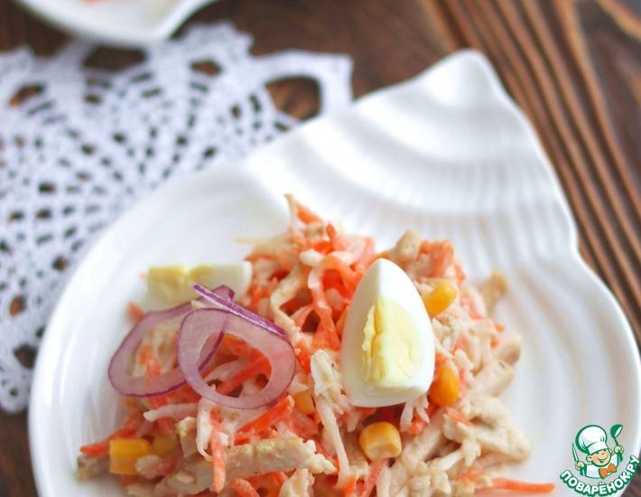 Рецепт: Салат с редькой и курицей