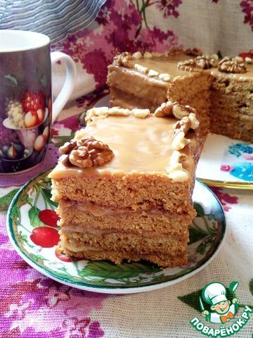 Цельнозерновой медово-тыквенный торт photo
