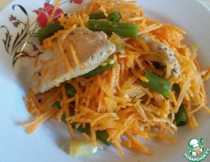 Рецепт: Салат из курицы с овощами