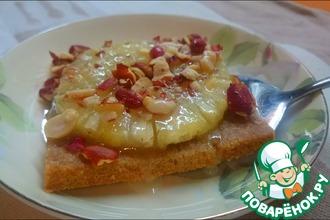 Рецепт: Сладкий ананасовый десерт из ржаной муки