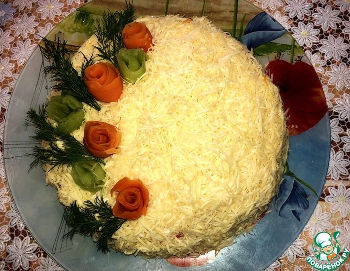 Рецепт: Салат Цветочный