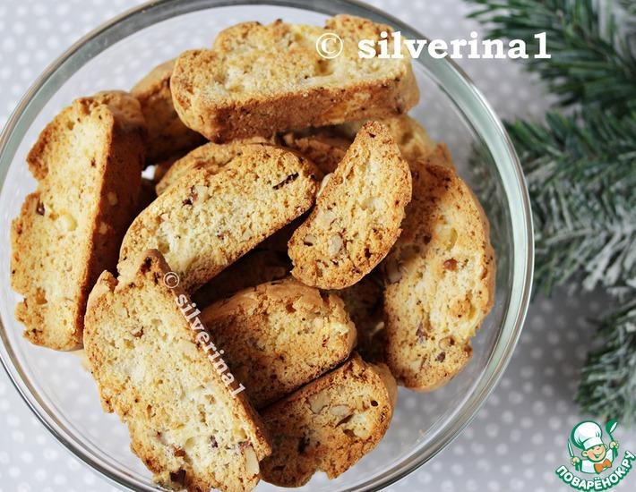 Бискотти с орехами и сыром