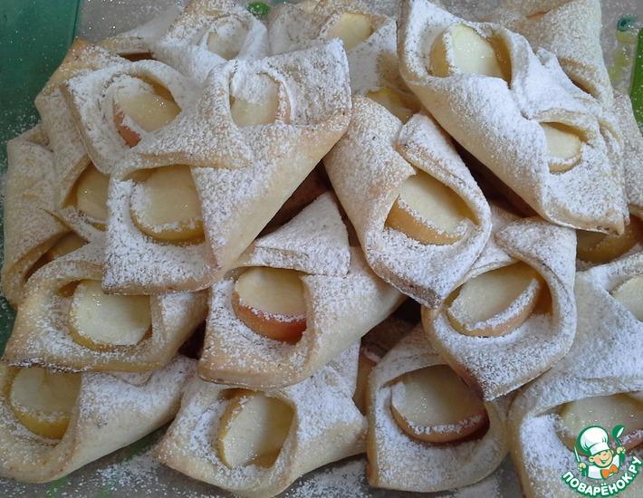 Рецепт: Творожное печенье с яблоками