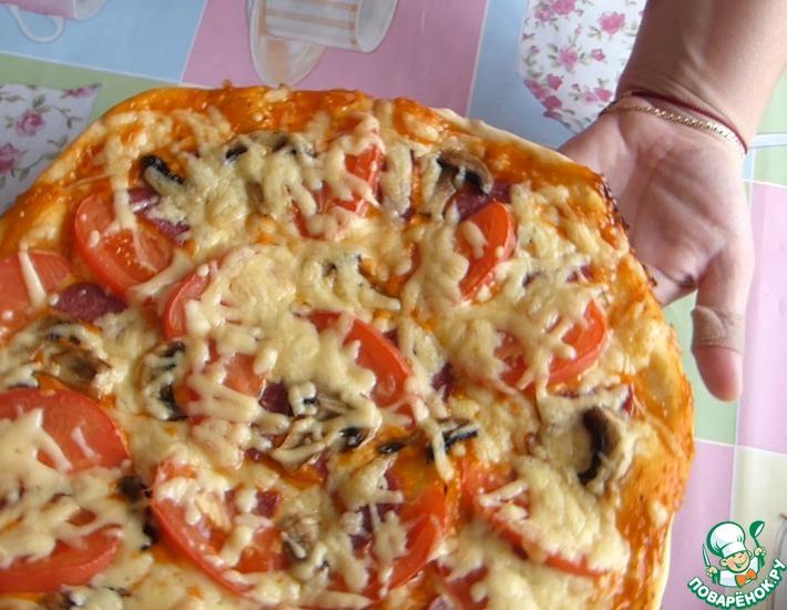 Рецепт: Пицца на дрожжах
