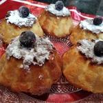 Творожные кексы с печеными яблоками