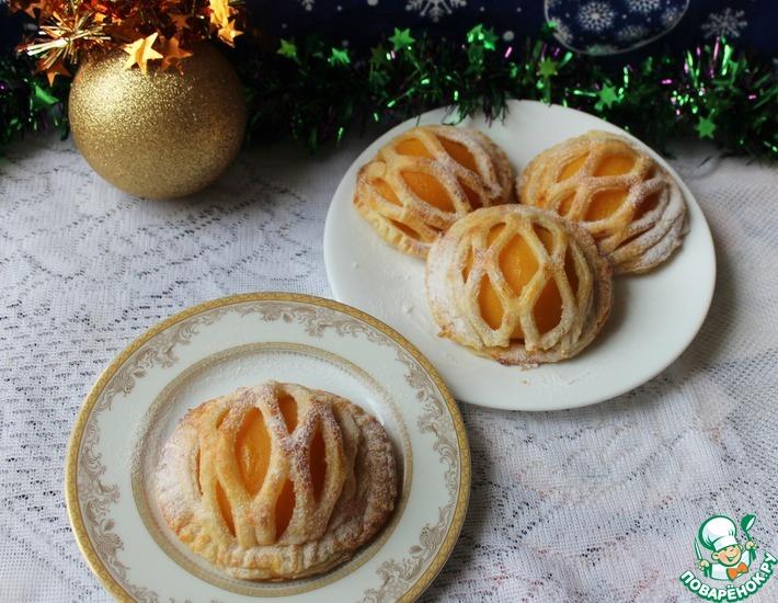 Рецепт: Мини-пироги с персиками