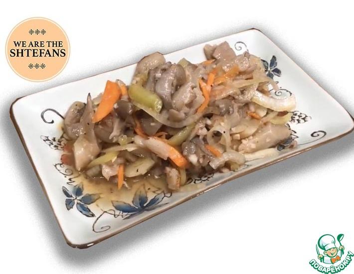 Рецепт: Вешенки по корейски