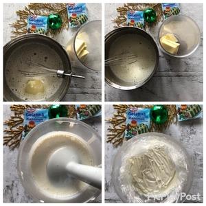 Когда желатин разойдется, добавить сгущенное молоко и перемешать до однородного состояния. Остудить до 70С.   В стакан от блендера поместить шоколад, вылить на него смесь и сделать эмульсию при помощи погружного блендера. Отправляем в холодильник на стабилизацию, накрыв глазурь пищевой пленкой в контакт.   рабочая температура зеркальной глазури 35С.
