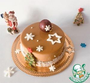 А вот и новогодний торт, один из вариантов.
