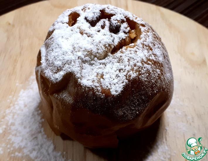 Запеченные в духовке яблоки с творогом и медом