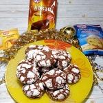 Праздничное бархатное печенье к Рождеству