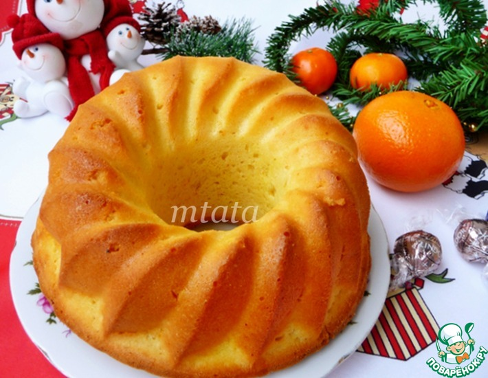 Рецепт: Кекс апельсиновый