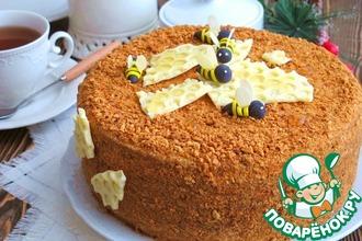 Рецепт: Домашний торт Медовый