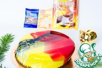 Рецепт: Муссовый торт Космос новогодний