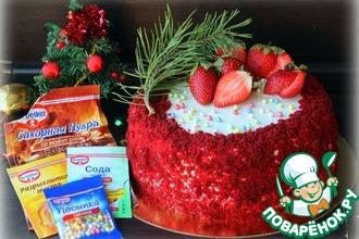 Рецепт: Рождественский торт с ромовым крем-чизом