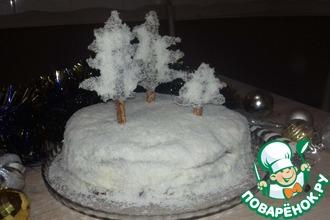 Рецепт: Торт Заснеженный лес