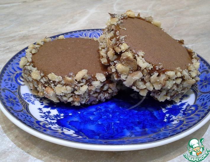 Рецепт: Шоколадное печенье с варёной сгущенкой