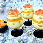 Сметанно-мандариновый десерт с желейными конфетти