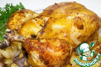 Рецепт: Курица с хрустящей корочкой