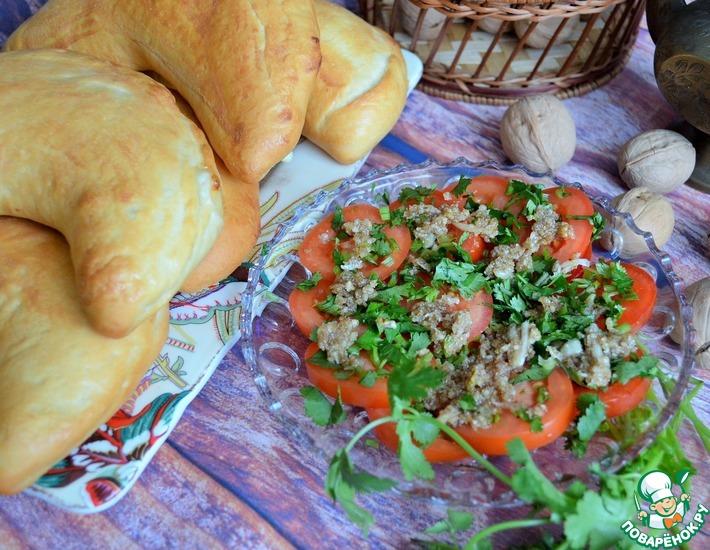 Рецепт: Закуска Помидоры к хачапури