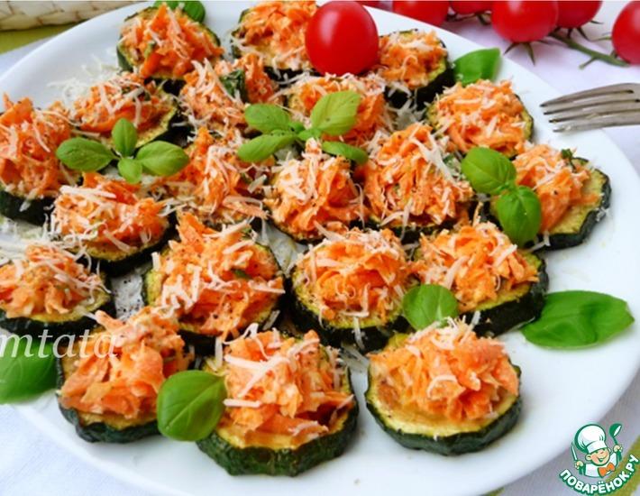 Рецепт: Закуска из цуккини с морковью