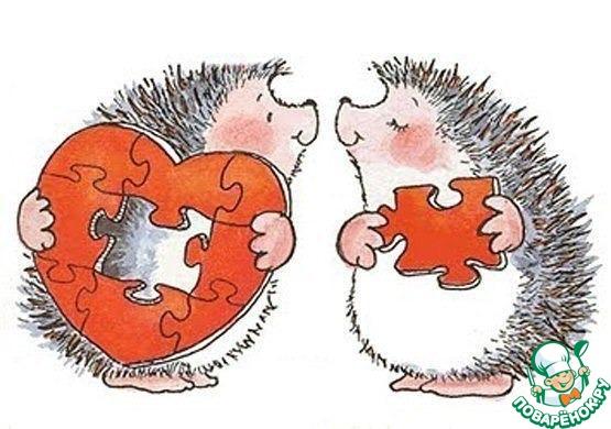Зайцы с сердцами.