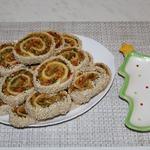 Рулеты с картофелем и болгарским перцем